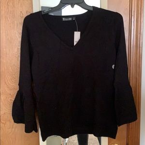 New York and Company Black bell sleeve sweater
